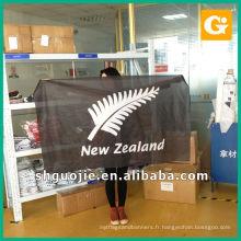 Bannière accrochante de polyester, bannière de drapeau de promotion, bannière de tissu