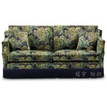 Tela impresa de gamuza de poliéster de cuero para fundas de sofá