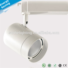 High lumen adjustable 30W COB led track light with factory price SAA CE TUV