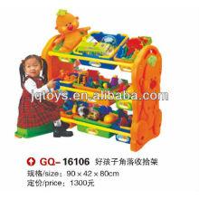 JQ prateleira de canto de plástico para crianças prateleira coletiva