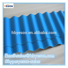 Recubrimiento de zinc galvanizado chapa de acero corrugado