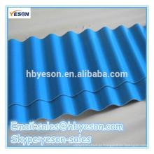 Chapa de aço galvanizado zinco revestimento telha ondulada