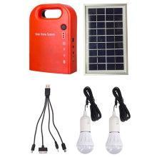 10W Portable Small DC Solar Kit with Radio