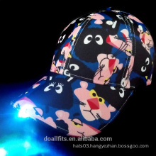 Mickey LED light baseball cap with customied logo made in china