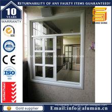 Fenêtre en verre coulissante aluminium horizontale en bois (sw-7790)