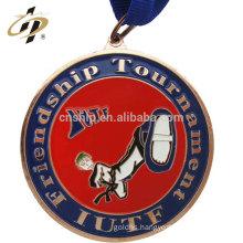 Custom zinc alloy bronze ITUF taekwondo sports medals with own design