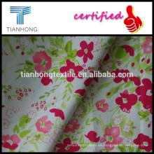 la primavera sensación joven diseño algodón spandex tela cruzada armadura a tejido estampado para los pantalones slim