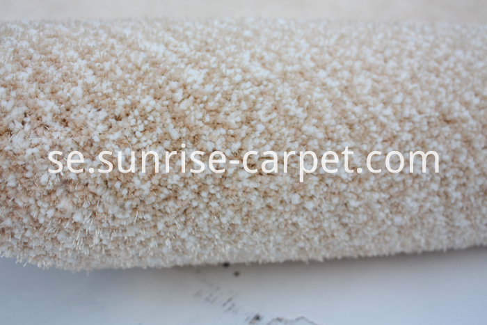Microfiber with Viscose short pile carpet beige color