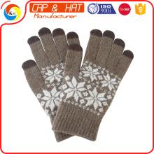 Hight qualidade presente novo luva tela sensível ao toque luvas inteligentes personalizado personalizado malha inverno luva de tela de toque