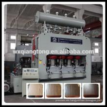 Máquina de laminación de prensa caliente de papel de melamina