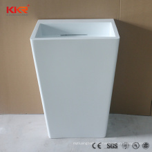 Solid Surface Stone Wash Basin China Manufacturer White Freestanding Sink