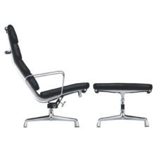 Leder Büro / Hotel Möbel Freizeit Lounge Chair mit Ottoman (RFT-F3D)