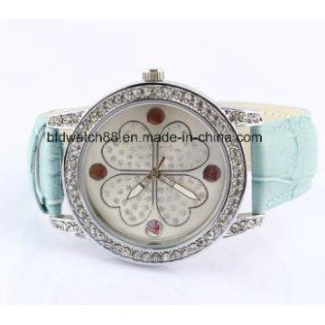 Элегантный Кристалл Девушки Часы Из Нержавеющей Стали Назад