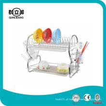 Arame Gabinete de cozinha Prato Rack / Chrome Plating Dish Drainer