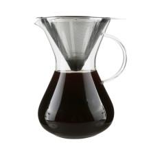 La alta calidad vierte sobre la cafetera fría del café cristal de Brew 650ml con el filtro de 2 tazas