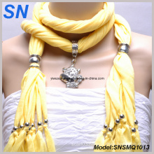 Yellow Jeweled Scarves with Animal Pendant (SNSMQ1013)