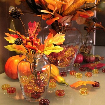 Decorative Pumpkin Acrylic Stone for Vase Fillers