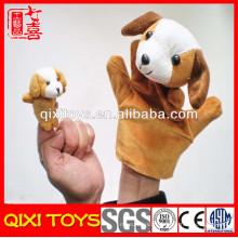Pas cher mini doigt en peluche marionnettes jouets chien doigts marionnette
