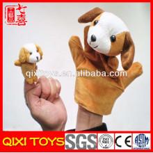 barato fantoches de dedo de pelúcia mini brinquedos fantoche de dedos de cão