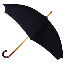 Wooden Handle Black Straight Umbrella (BD-01)