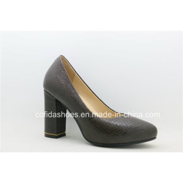 New Fashion Comfort Square High Heels Lady Shoes