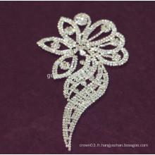 Appliques en strass de mariée en cristal de gros en cristal