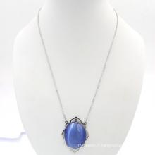 Saphir Design Fashion Gem Necklace Fournitures de fabrication de bijoux