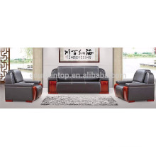 Big size executive leather black office sofa set (KS10)