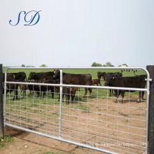 Barras para ganado de 5 barras, puertas de paneles para vallas de ganado, 1.6 m