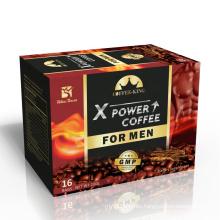Man X power coffee Men's Kidney maca coffee enhances Instant black Private label long time male vitality coffee