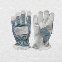 Luva de couro Spandex Back Mechanic Work Glove (7316)