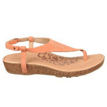 Dark Orange Leather or Suede Upper Casual Sandals