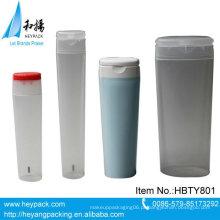 Grande diâmetro plana oval transparente tubo quadrado de plástico