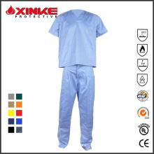 Uniforme feito sob encomenda da enfermeira de Oekotex para o hospital