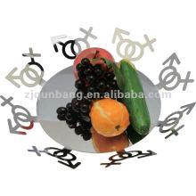 Cesta de frutas pendurada em aço inoxidável