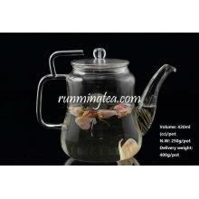 Großhandel Borosilikat-Glas-Teekanne mit Edelstahl-Einsatz Auslauf, 420ccm