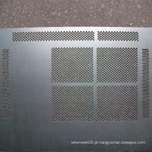 Chapa de metal perfurada de aço inoxidável de pequena abertura
