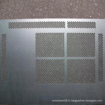 Petite tôle perforée en acier inoxydable à ouverture