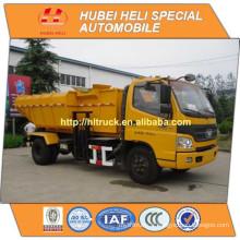 FOTON 4x2 8CBM levage hydraulique chariot à ordures 130hp vente chaude pour chargeur latéral d'exportation