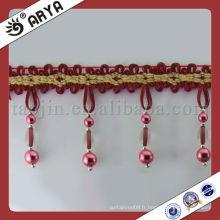 Stock Plastic Beads Curtain Trims Tassel Fringe pour usines Rideau Accessoire Home Textile