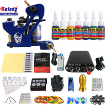 Solong TK105-68 Beginner Tattoo Kit with Tattoo Gun Power Supply Tattoo Kits With Needles