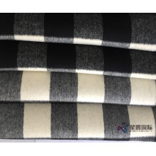 Hitam dan putih Plaid 100% Wool Fabric