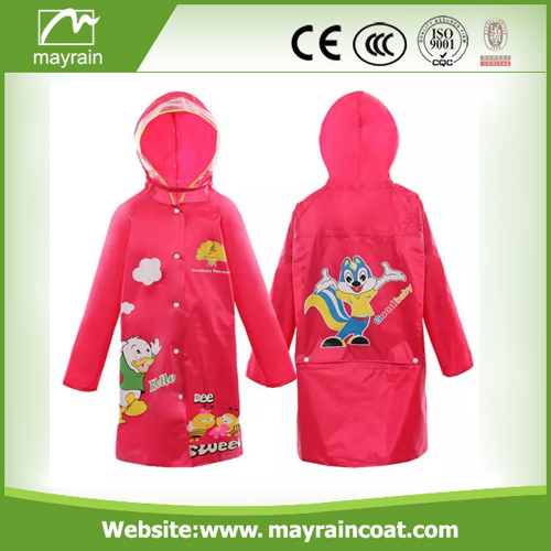 Polyester Child Raincoat with Printing