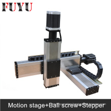 FUYU ballscrew XYZ Linear motorized stage system nema 34 stepper motor drive gantry type 3d printer parts robotic arm kit