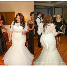 China por encargo sirena más vestido de boda de tamaño africano