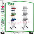 Wire Metal Display Shelf with Multiple Hooks