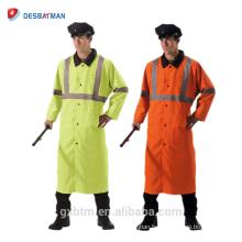 Imperméable réfléchissant réversible de haute pluie de vestes de pluie, gilet de sécurité de Parka de salut-vis de sécurité
