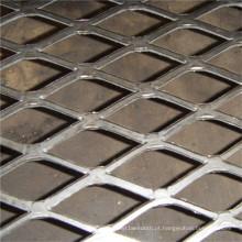 Malha de metal de alumínio expandida diamante plana