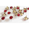 8mm Metal Brads Couro com Luz Siam Glass Stone Embellished