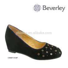 Новое Прибытие черный кожаный мода большой размер Российская женская обувь